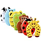 Tonyko® 7 PCS Children Safety No Finger Pinch Foam Door Stopper-Colorful Cartoon Animal
