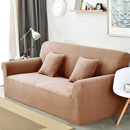 Sancua Sofa Cover Stretch Anti Slip Couch Covers for 3 Cushion Couch  One Piece Cover Fitted Sofa Durable Spandex Slip Covers for Furniture Sofa Stain Resistant Brown Slipcover (Sofa,Coffee) - One Piece Sofa Slipcover