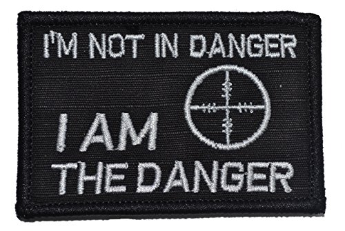 Im-Not-In-Danger-I-Am-The-Danger-2x3-Military-Patch-Morale-Patch-Multiple-Color-Options