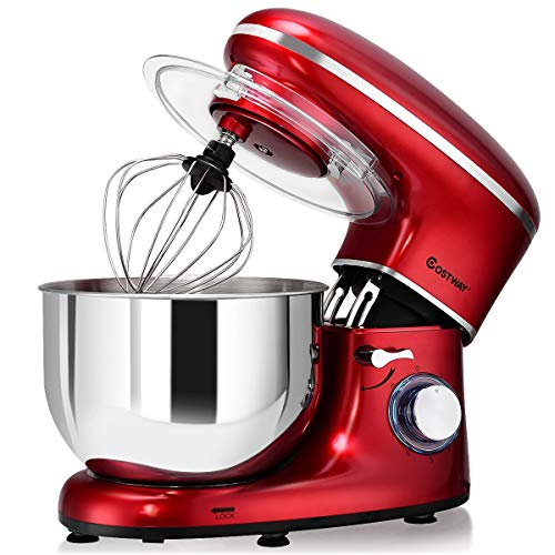 COSTWAY Stand Mixer, 660W Electric Kitchen Food Mixer with 6
