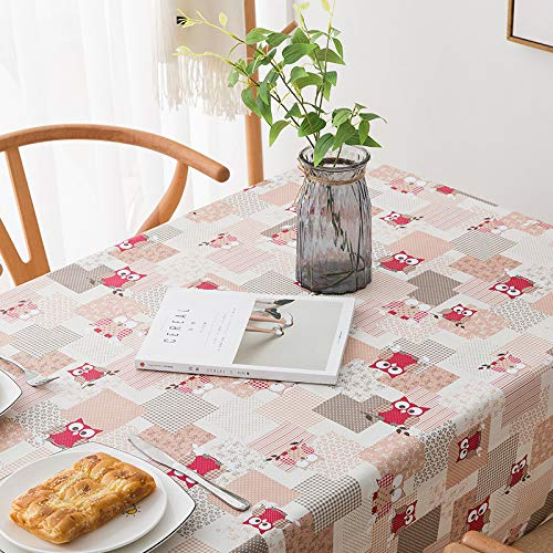 - lym1108 Small Fresh Tablecloth PVC Waterproof and Oil-Proof Scratch-Free Disposable Table Cloth Plastic Tablecloth Anti-Hot Tea Table Cloth I-2 138180Cm