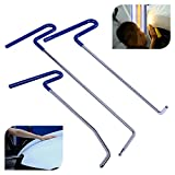FLY5D 3Pcs Pdr Rods Auto Body Paintless Dent Repair Kits for Hail Damage Door Dings Removal PDR Tools Tips Sets (3Pcs Blue Rods)
