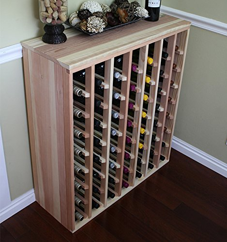 Creekside 56 Bottle Premium Table Wine Rack (Redwood) by Creekside – Exclusive 12 inch deep design with solid sides. Hand-sanded to perfection!, Redwood For Sale