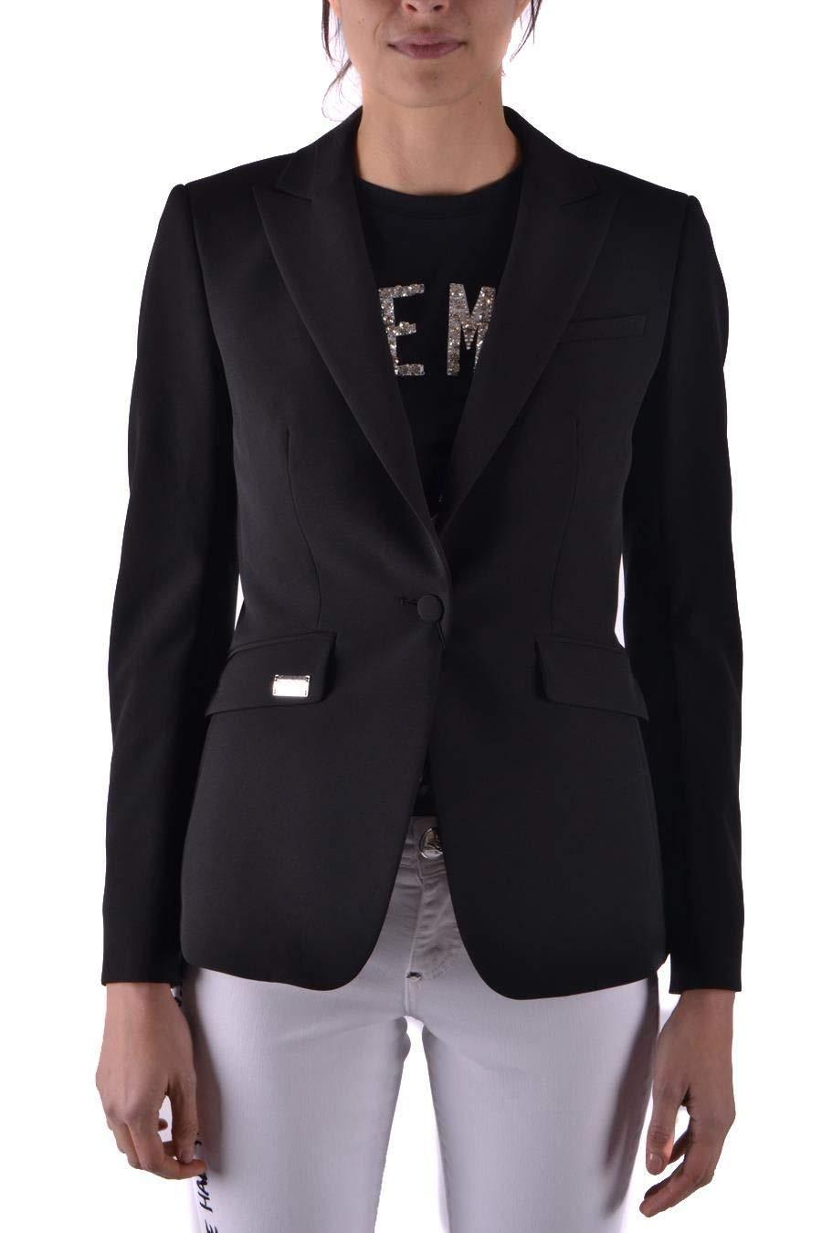 Philipp Plein Women's WRF0092PTE008N02 Black Polyester Blazer