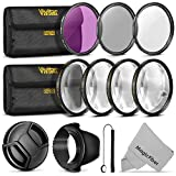 52MM Vivitar Professional UV CPL FLD Lens Filter and Close-Up Macro Accessory Kit for Lenses with a 52mm Filter Size