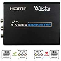 Mini 1080P HDMI to AV 3RCA CVBs Composite & S-video R/L Video Audio Converter Adapter Supporting PAL/NTSC for PC Laptop Xbox PS4 PS3 TV STB VHS VCR Camera DVD