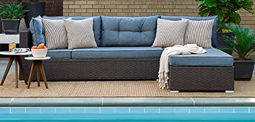 Lifestyle Relax A Lounger ARN-2PC-BL-SET Pacifica Outdoor...