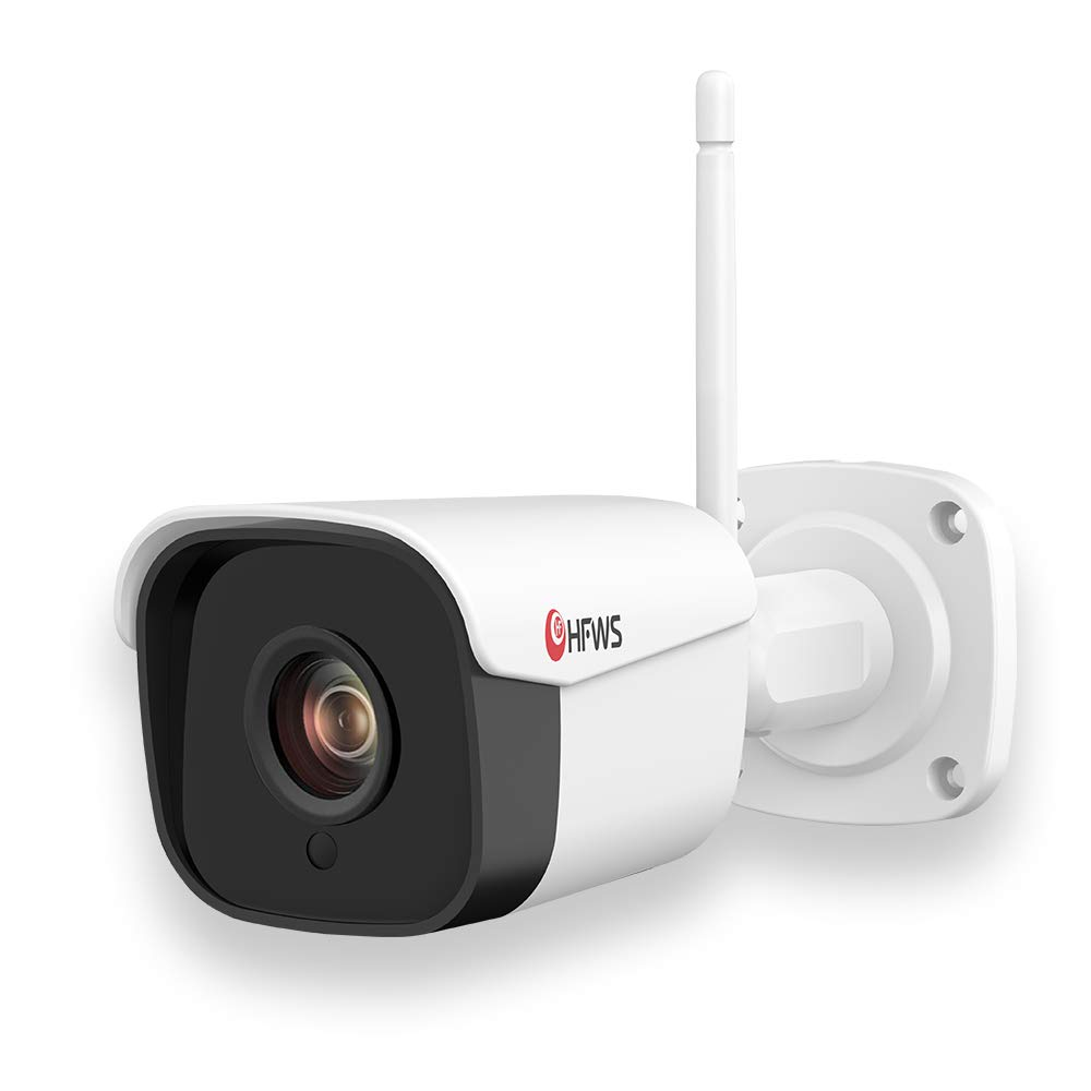 【Audio】 WiFi 1080P Security Bullet Camera Outdoor,Weatherproof,Night Vision 100 FT Within 16GB SD Card, Smart APP Control,HFWS-WT20 by HF HFWS