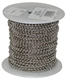 JANDORF SPECIALTY HARDWARE 92544 100' No.6 Nickel plated brass Bead Chain