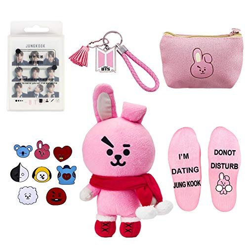 Youyouchard BTS Bangtan Boys Cute Cartoon Christmas Merchandise Set BTS Photocard Set BTS Keychain BTS Bag BTS Socks BTS Pins BTS Doll, Love Yourself(H02) from Youyouchard