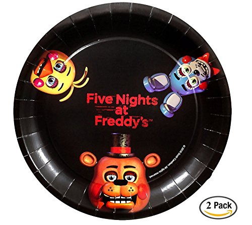 5 Nights At Freddy's 2 Costumes (Five Nights at Freddy's Dessert Plates (8), 9 inch, 2 pack)