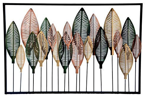 Mothers Day Deals Wall Décor Decorations for Living Room Big Leaf Large 24 Inch Colorful Metal Leaf Hanging Wall Art…