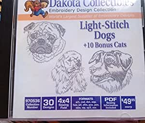 Dakota Collectibles Light Stitch Dogs  Bonus Cats