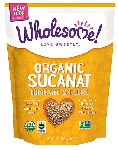 Wholesome Sweeteners Organic Sucanat Brown Sugar -- 1 lb - 2 pc