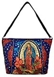 SpiritStar Sugar Skull Purse: Day of the Dead Inspired Daily Travel Bag Made with 100% Cotton (La Virgen)