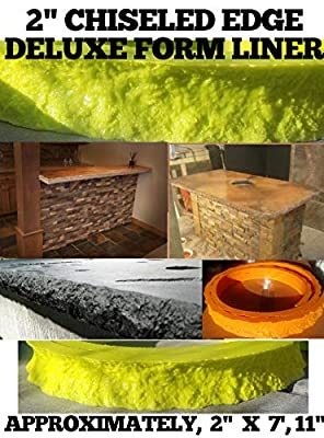 """CONCRETE COUNTERTOP EDGE FORMS - Chiseled Edge Deluxe, 2"""" wide x 7',11"""" long"""
