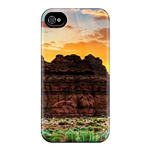 LatonyaSBlack Case Cover For Iphone 4/4s - Retailer Packaging Beautiful Desert Rock Formation Protective Case
