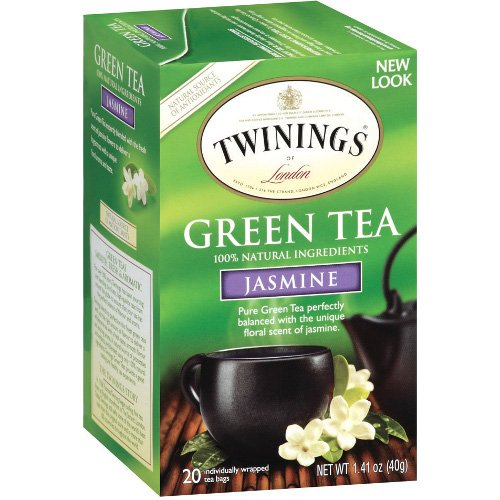 Twinings Jasmine Bagged Green Tea, 20 Count (Twining Green Tea Bags)