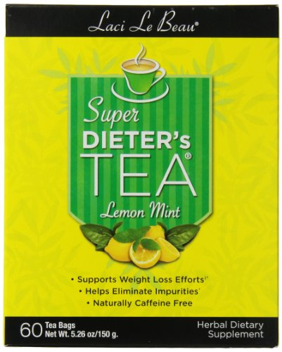 Box Super Dieters Tea - Laci Le Beau Super Dieter's Tea, Lemon Mint , 60 Count Box (Pack of 2)