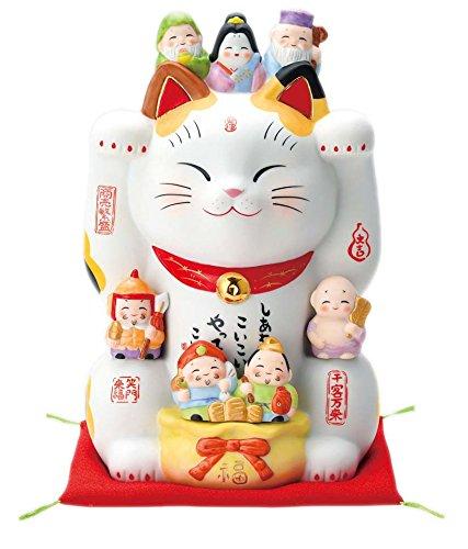 彩絵七福神招き猫(8号) 7601 B079WRYRSY