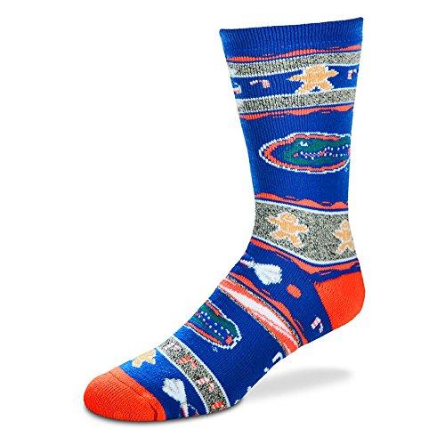 [For Bare Feet Florida Gators Ugly Christmas Xmas Holiday Sports Socks] (Florida Themed Costumes)