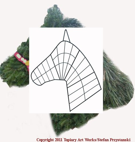 Amazoncom Horse Head Wreath Wire Form Made In Horse Country