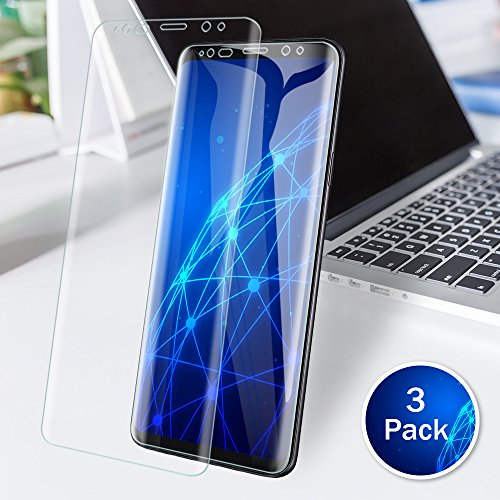 LK [3 PACK] Samsung Galaxy S9 Screen Protector (Case Friendly), [Full Coverage] PET Soft Flexible TPU film with Lifetime Replacement Warranty