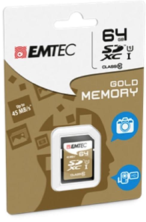 Amazon.com: Emtec 64 GB Clase 10 Ultra – Tarjeta de memoria ...