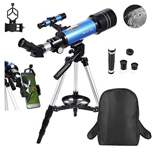 🥇 MaxUSee 70mm Refractor Telescope for Kids & Beginners
