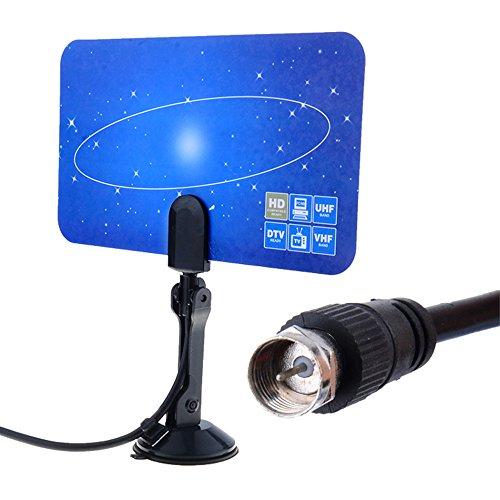 Tv Turner Card (SUNMENCO Digital Indoor TV Antenna HDTV DTV HD VHF UHF Flat Design High Gain US/EU Plug Antena Sintonizador tdt Para Television Antennas)