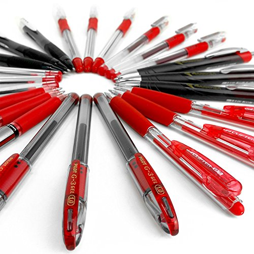 Nice Assorted Clearance Bundle of 20 Branded Pens - Red Ink free shipping