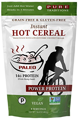 (Instant Hot Cereal, Power Protein, Certified Paleo, Grain and Gluten-free, 16.4)
