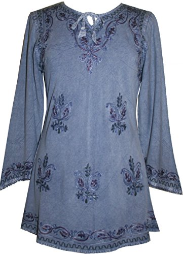 Costume Trelawney Professor (Agan Traders 117 B Medieval Vintage Top Blouse (3X, Lilac)