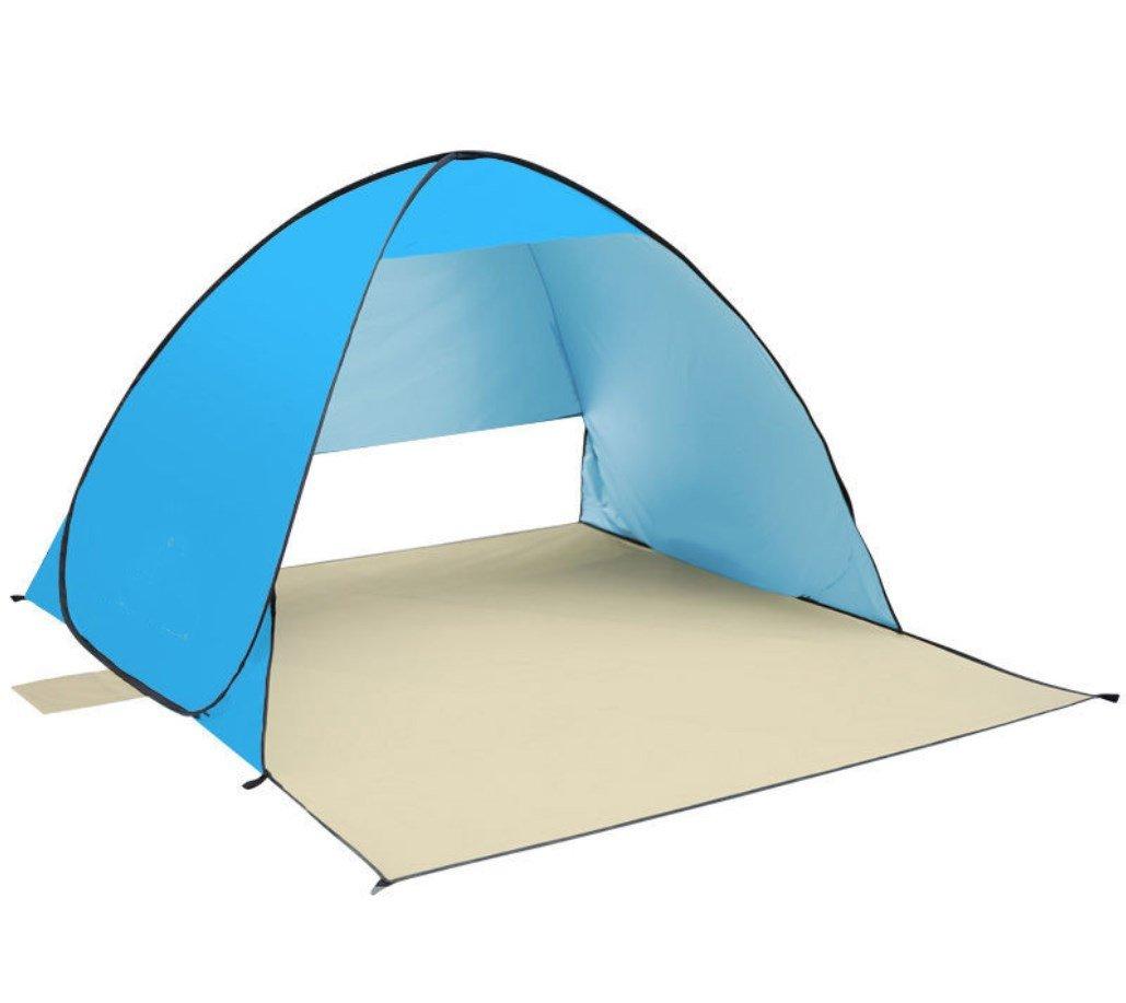 Zelt im Freien Strand Zelt Automatische Geschwindigkeit öffnen Sonnenschutz Doppel Multiplayer Angeln ZXCV