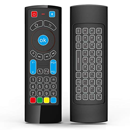 Air Remote Mouse, Compatible with Amazon Fire TV and Fire TV Stick/4K- Air Remote Control with Keyboard/Air Remote Mouse, Compatible with Android TV/Box/Windows/Raspberry pi 3(Without Alexa)
