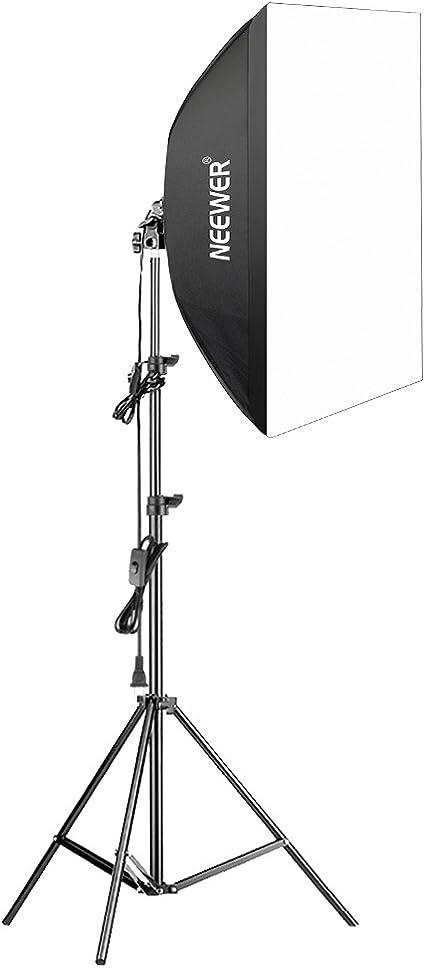 Neewer – 350 W fotografía caja de luz Kit de iluminación – 24 x 24 pulgadas/60 x