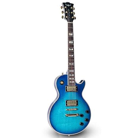 Miiliedy LP Guitarra eléctrica Adulto Principiante Rock Roll Blues Heavy Metal Estilos musicales populares Sistema de