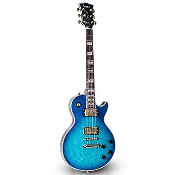 Miiliedy LP Guitarra eléctrica Adulto Principiante Rock Roll Blues Heavy Metal Estilos musicales populares Sistema de guitarra electrónica profesional ...