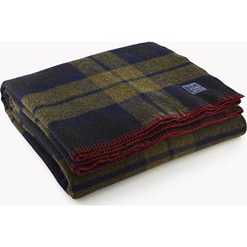 Faribault Foot Soldier Wool Blanket - Shadow Plaid
