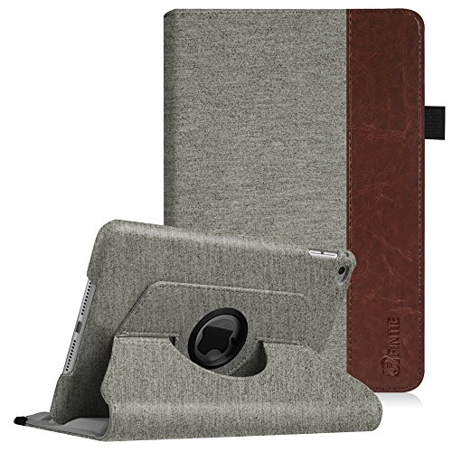 Fintie iPad Mini 4 Case - 360 Degree Rotating Stand Case with Smart Cover Auto Sleep/Wake Feature for Apple iPad Mini 4 (2015 Release), Denim Grey