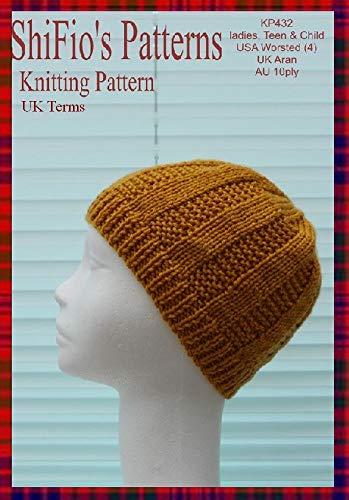 Knitting Pattern-KP432-Ladies, Teen, child hat beanie-UK Terminology