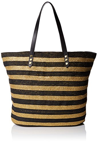 San Diego Hat Company Women's Tote Bag with Interior Zippered Pocket and Metal Snap Closure, Black, One Size ()