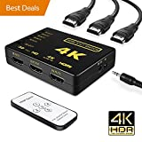 60% OFF [Upgrade version] HDMI Switch splitter,Wewdigi Intelligent 5-Port HDMI Switch, Supports 4K, Full HD1080p, 3D with IR Remote (Black-5Port)