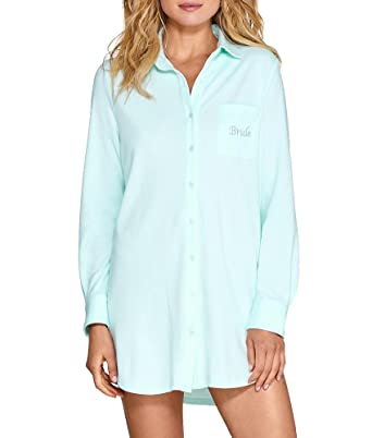 56e3e8641ca Image Unavailable. Image not available for. Color  Flora Nikrooz Flora by Tulla  Knit Bride Sleep Shirt ...