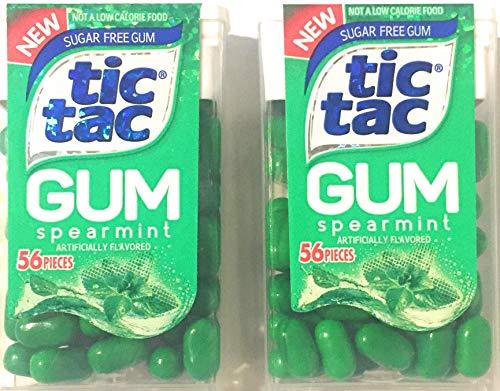 Tic Tac Spearmint Sugar Free Gum, 56 Pieces (Pack of -