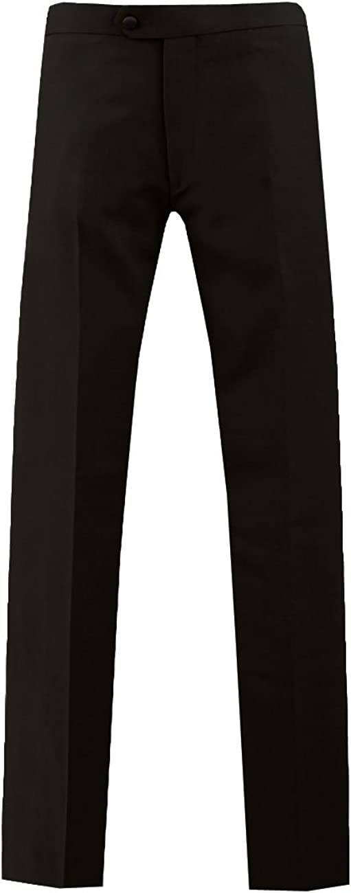 1920s Men's Fashion UK | Peaky Blinders Clothing Dobell Mens Black Tuxedo Trousers Regular Fit Satin Side Stripe £35.00 AT vintagedancer.com
