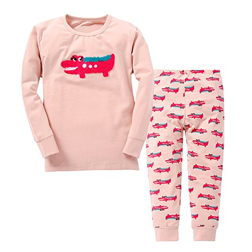 Nap with Me - Premium Cotton Baby, Toddler, Kid Pajamas Sizes 2-6 Years. - (5T, Pink Gators) ()