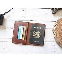 Porta pasaporte 100% piel color café sin cintillo viajes viajero