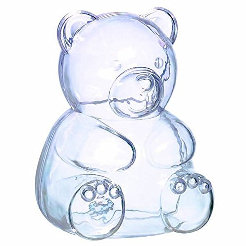 - Bear-Shaped Clear Plastic Container, Party Accessory