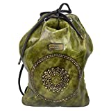 Macaro Quetzal Morral - Genuine Colombian Leather - University Knapsack - Green